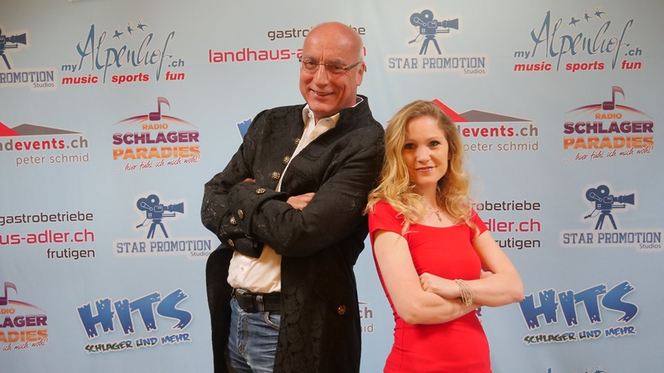 Hier mit Andrea Schmid